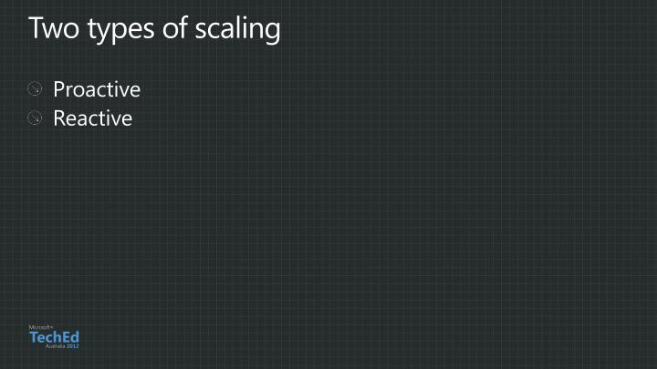 Two types of scaling