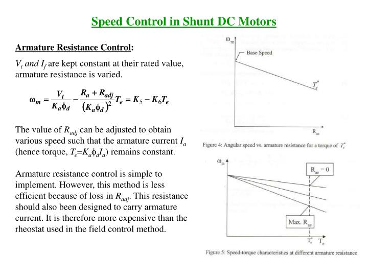 Ppt speed control in dc motors powerpoint presentation id1104005 speed control in shunt dc motors sciox Gallery