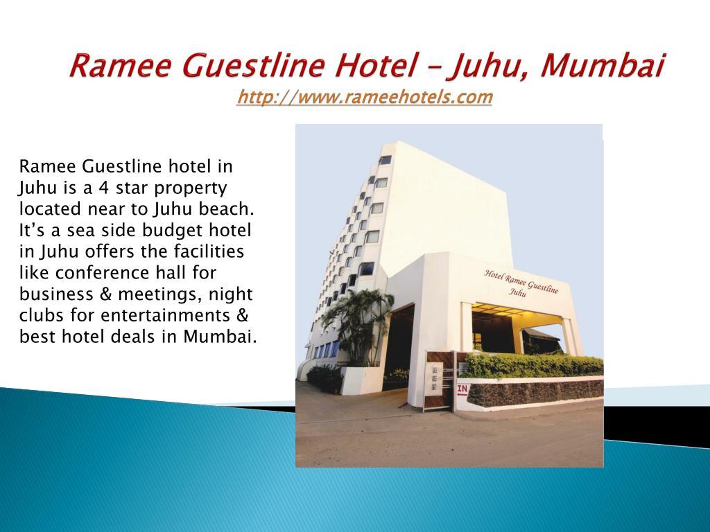 ramee guestline hotel juhu mumbai http www rameehotels com l.