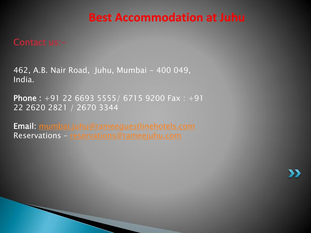 Best Accommodation at Juhu