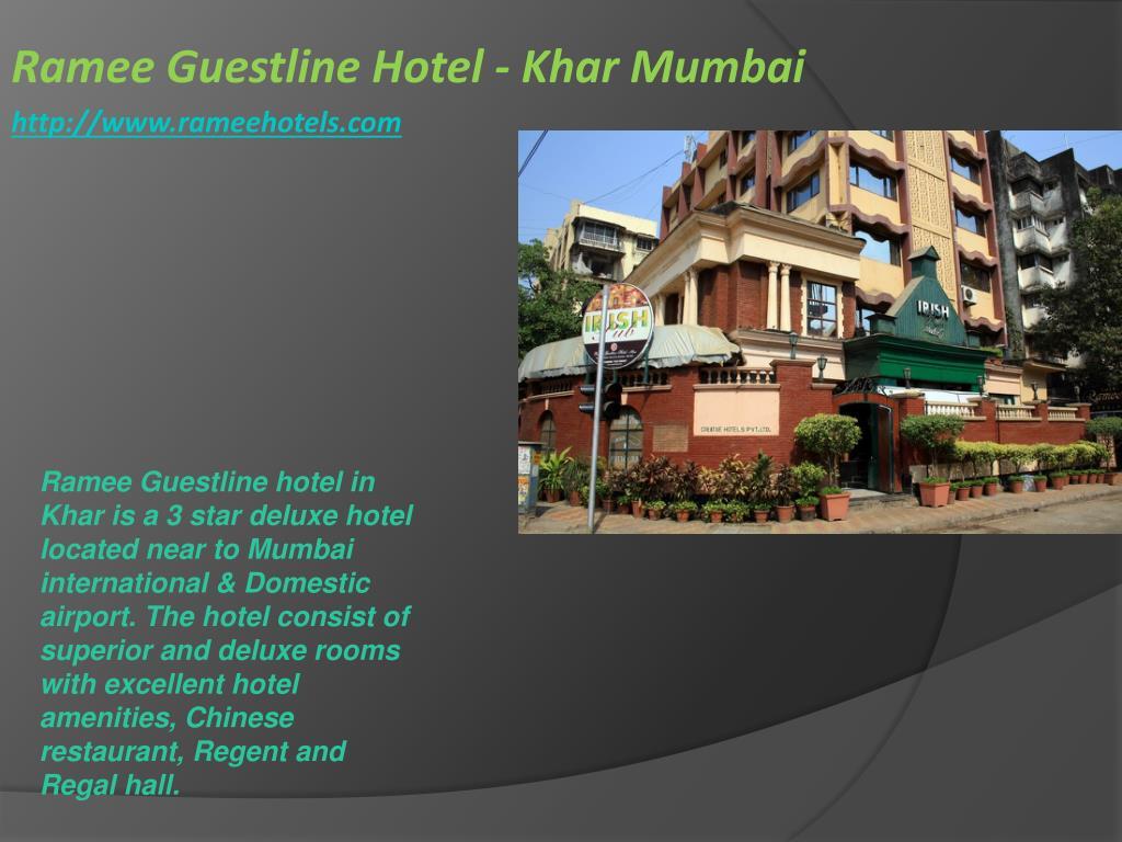 ramee guestline hotel khar mumbai http www rameehotels com l.