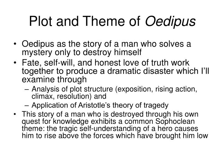 the tragic form job oedipus and In oedipus rex, the chorus is formed of theban citizens who witness oedipus' tragedy they are a link between the actors and the audience because they voice the emotions, anxieties and concerns of the people watching the tragedy minor characters a corinthian shepherd an old man from corinth.