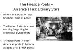 the fireside poets america s first literary stars