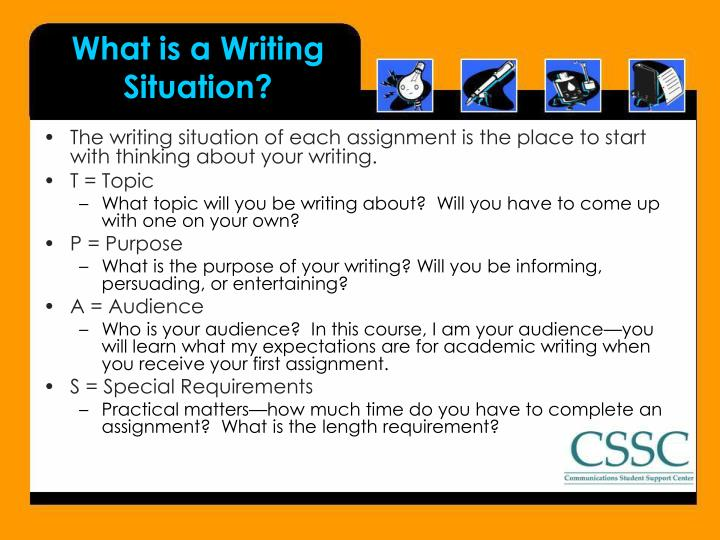 What is a Writing Situation?