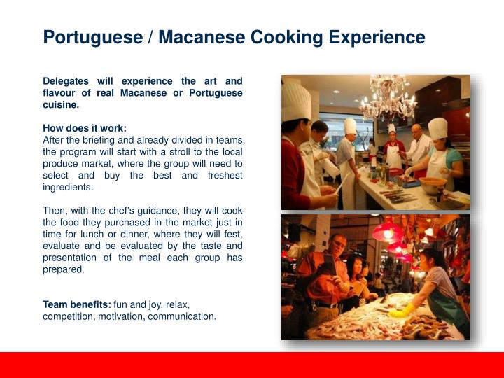 Portuguese / Macanese Cooking Experience