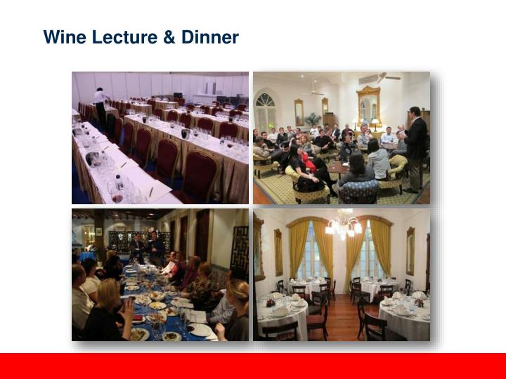 Wine Lecture & Dinner