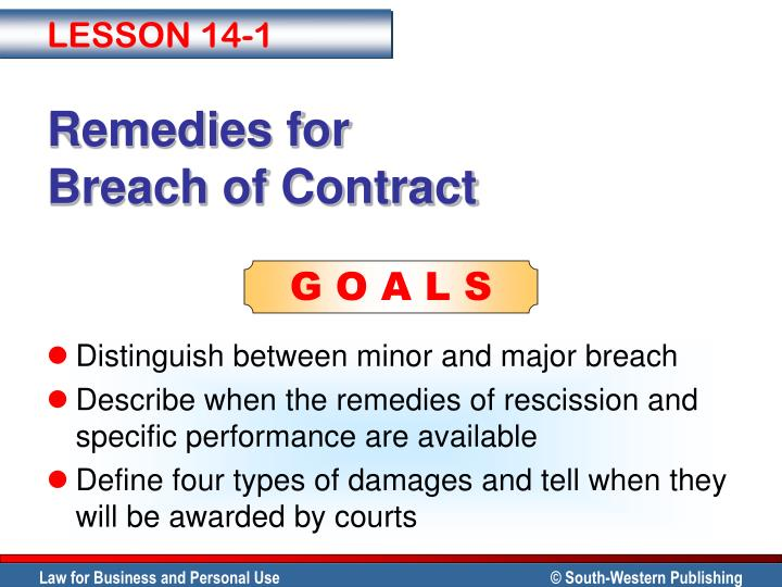 case of remedies for breach of contract delay Case of remedies for breach of contract delay breach of contract & remedies 1 breach of contract nature of breach a breach of contract occurs where a party to a.