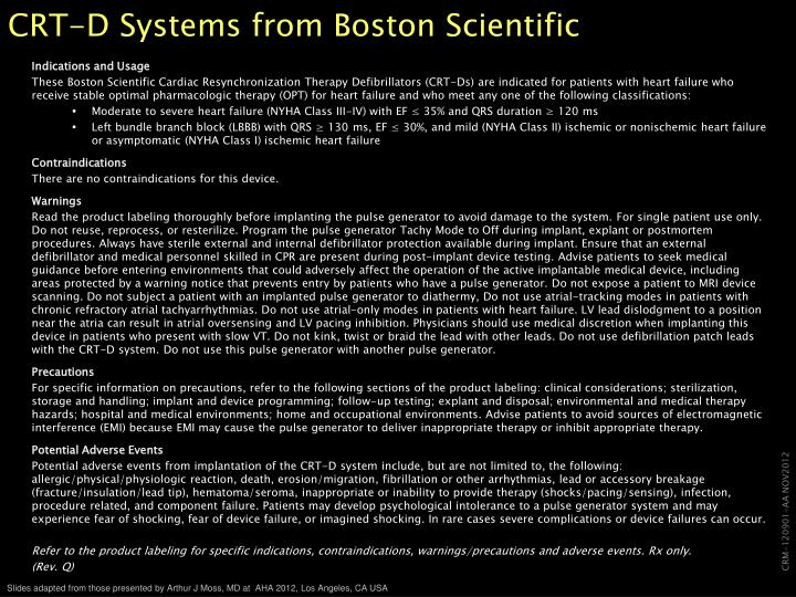 CRT-D Systems from Boston Scientific