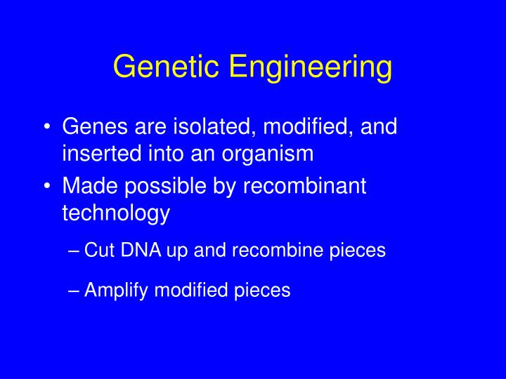 possible benefits and dangers of genetic engineering When it comes to genetic engineering, we're amateurs sure, we've known about dna's structure for more than 60 years, we first sequenced every a, t, c, and g in our bodies more than a decade.