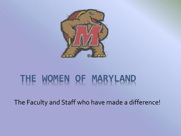 The faculty and staff who have made a difference