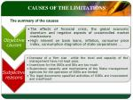 causes of the limitations