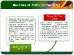 roadmap of soes restructuring1