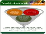 the goal of restructuring state owned enterprises