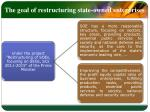 the goal of restructuring state owned enterprises1