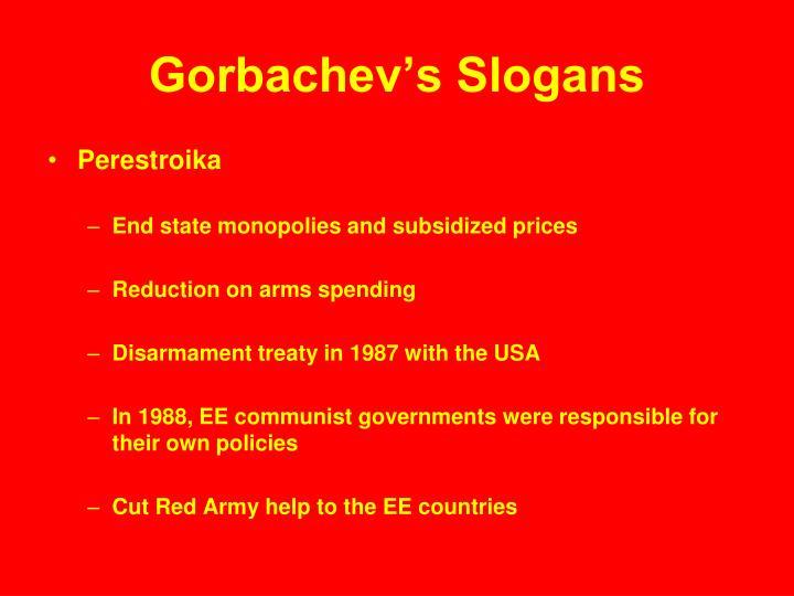 Gorbachev's Slogans