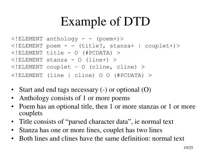 Example of DTD