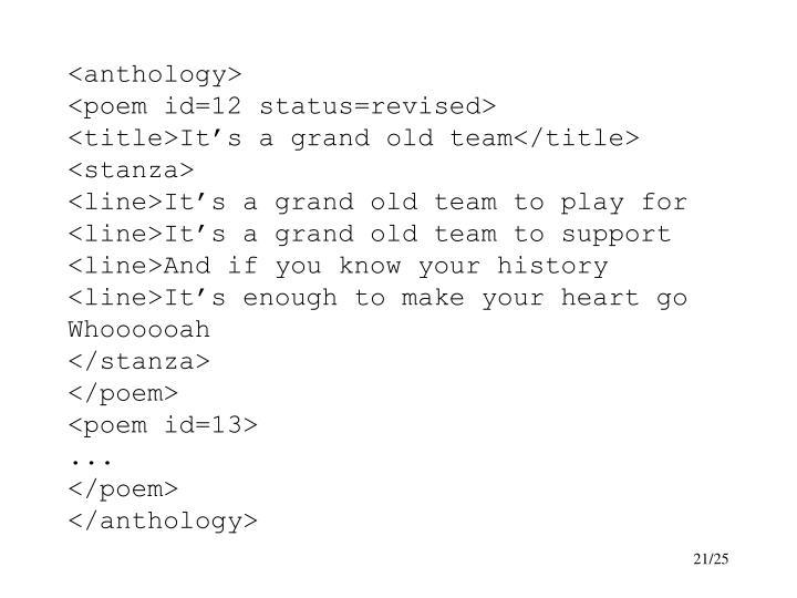 <anthology>