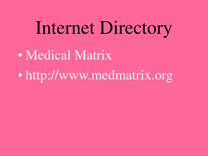 Internet Directory
