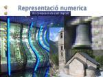representaci numerica