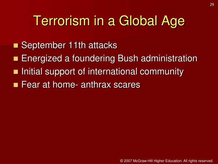 Terrorism in a Global Age