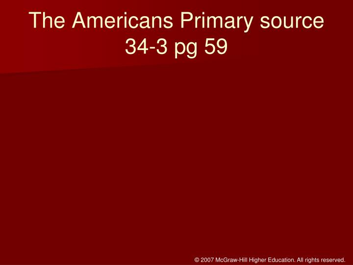 The Americans Primary source