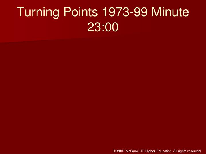 Turning Points 1973-99 Minute 23:00