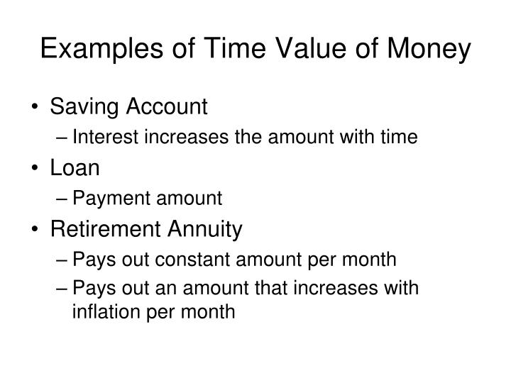 time value of money application paper essay Time value of money application helps realize the rate of return before the maturity time, and this is a great encouraging to investors, who are willing to venture in cd's loan amortization loan amortization is the process of paying back a loan by making gradual payments periodically.