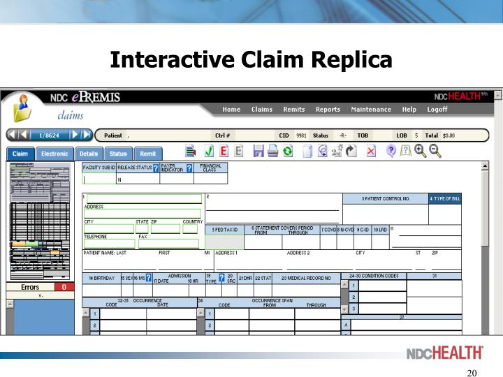 Interactive Claim Replica