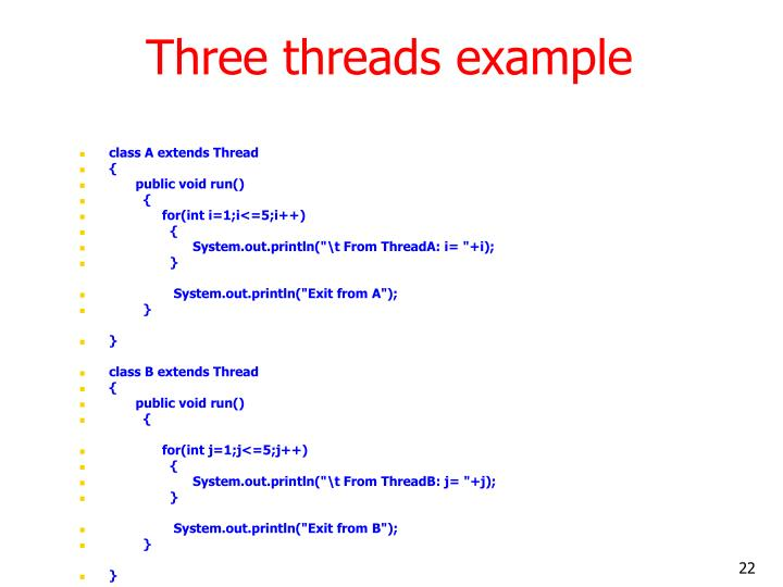 Three threads example