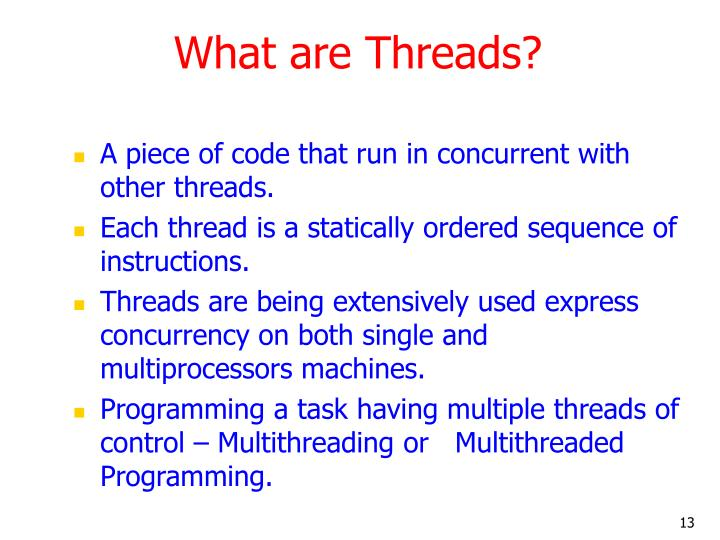 What are Threads?