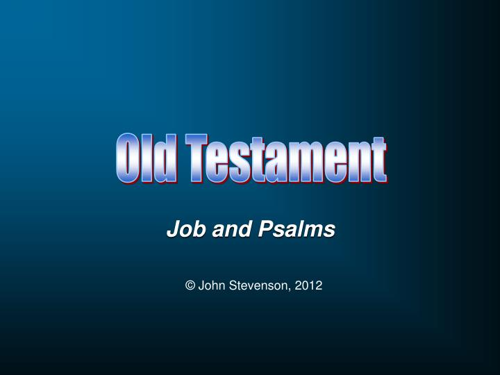 job and psalms n.