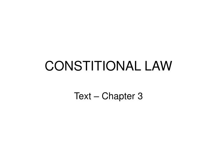 Constitional law