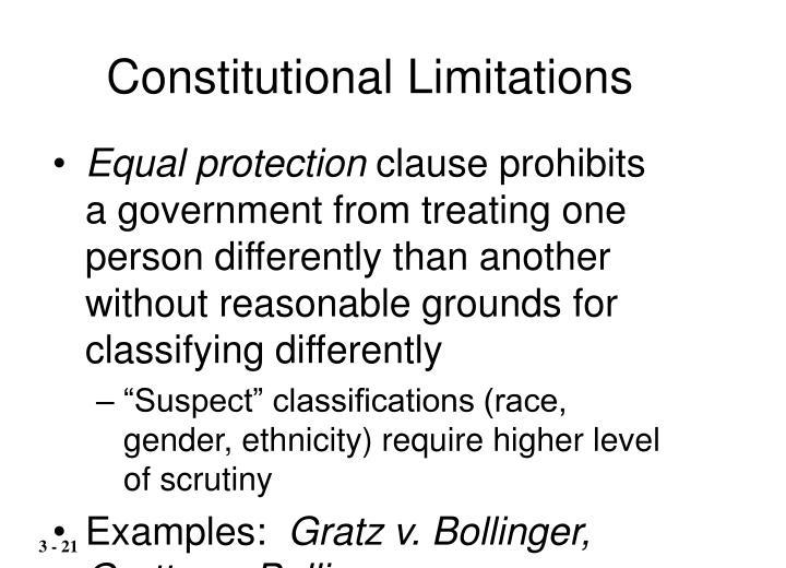Constitutional Limitations