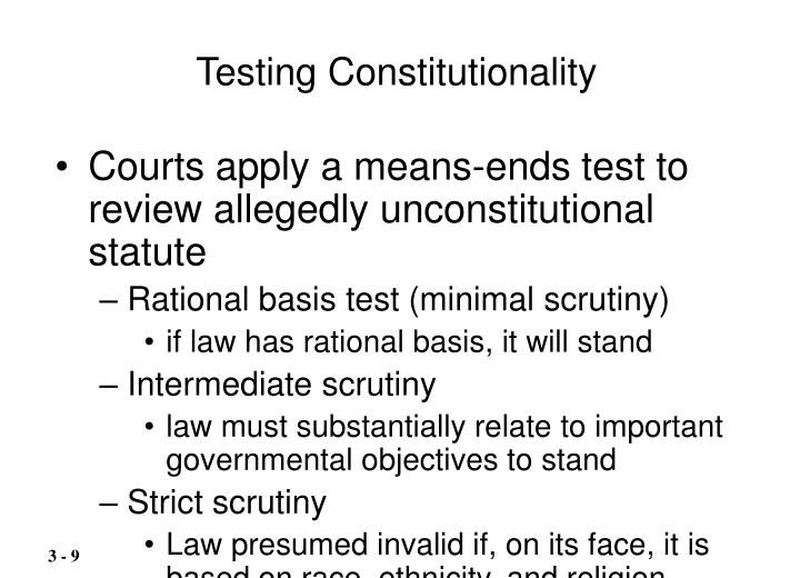 Testing Constitutionality