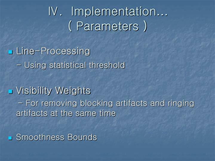 Ⅳ.  Implementation