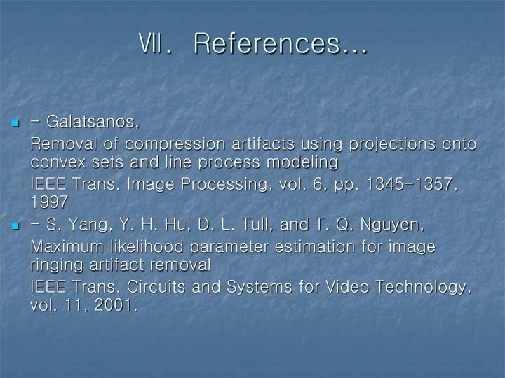 Ⅶ.  References