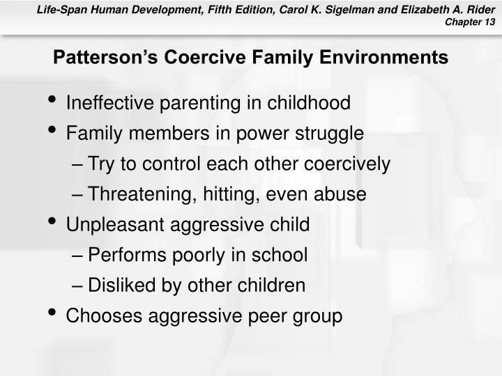 Patterson's Coercive Family Environments