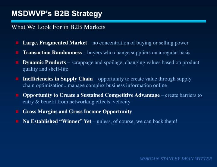 the success and strategy of morgan stanley dean witter co Morgan stanley dean witter co - trademarks - bizapedia.