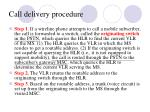 call delivery procedure1