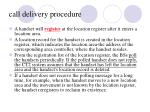 call delivery procedure4