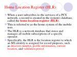 home location register hlr