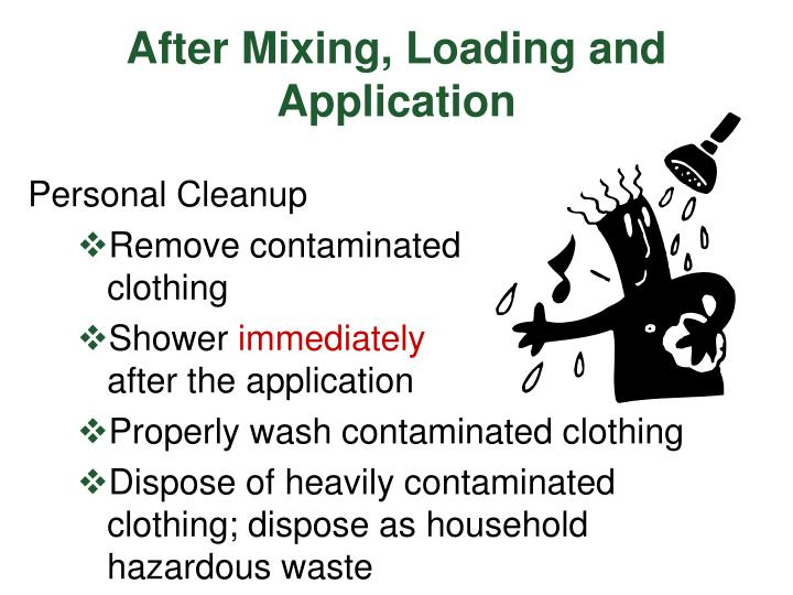 After Mixing, Loading and Application