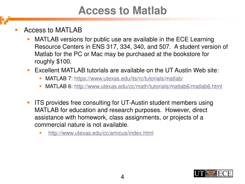 PPT - MATLAB Tutorial EE313 Signals and Systems Created
