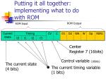 putting it all together implementing what to do with rom