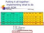putting it all together implementing what to do with rom5