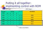 putting it all together implmenting control with rom