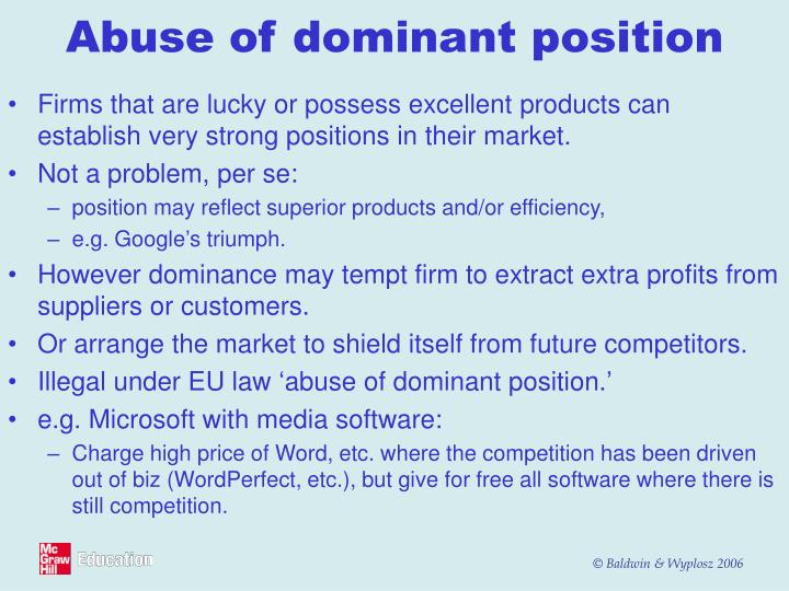Abuse of dominant position