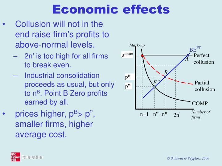Collusion will not in the end raise firm's profits to above-normal levels.
