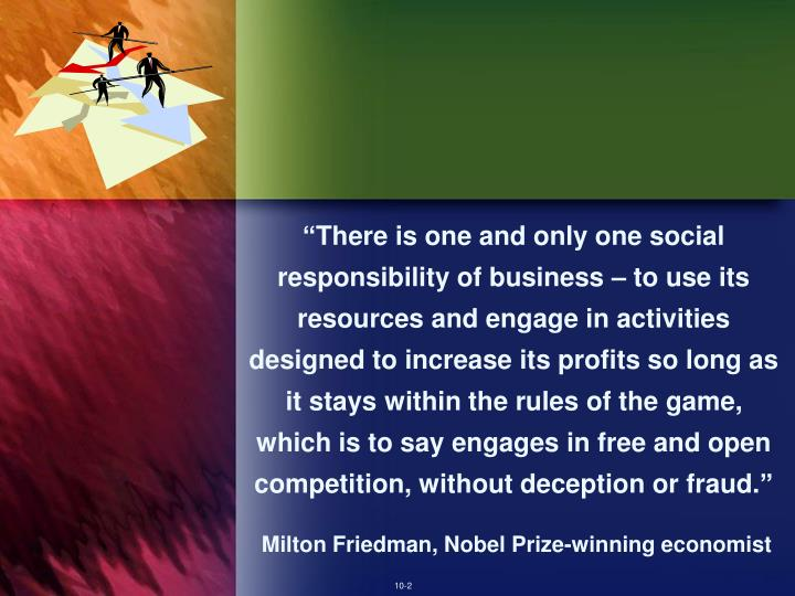milton friedman the social responsibility of business is to increase its profits essay Milton friedman the social responsibility of business is to increase its profits essay  milton friedman on self-interest and the  the social responsibility of business is to increase its.