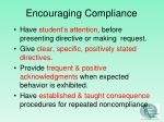 encouraging compliance